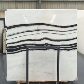 Panda White Natural Marble Tile For Flooring Layout, Book Matched Marble Stone Tile