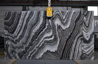 Fala River Wave Black & White Natural Marble Tile Slab do aranżacji wnętrz