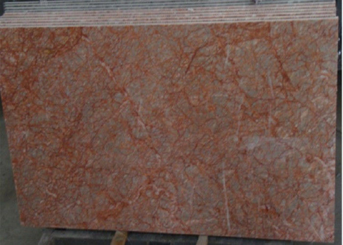 Rose Red Marble Tile , Decorative Natural Agate Floor Tiles Dolomite Type