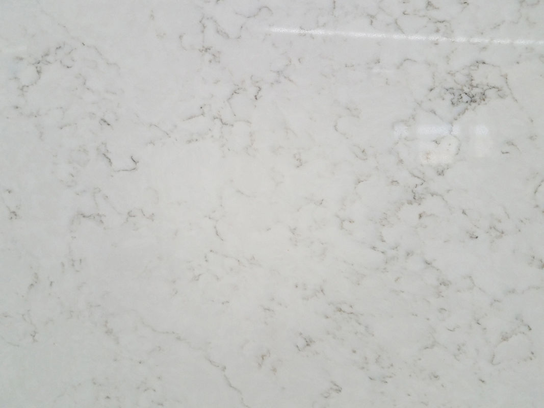 Marble Like Solid Quartz Countertops , Vein Designs Man Made Stone Countertops