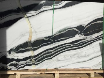 Black And White Lighting Natural Marble Tile And Slab , Marble Floor And Wall Tiles