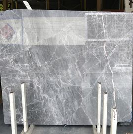 DORA Grey Cloud Gray Gris / Blue Natural Marble Tile And Slab For Flooring Layout Book Matched